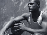 Basketball Player Resting Photographic Print