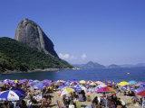 Sugar Loaf Mountain, Red Beach, Rio de Janeiro, Brazil Photographic Print