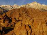 Alabama Hills Looking Towards Sierras, Owens Valley, California, USA Photographic Print by Stephen Saks