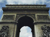 A Low Upward View of the Arc De Triomphe Photographic Print by Wolcott Henry
