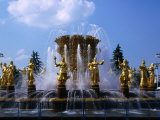 Fountain at the All-Russia Exhibition Centre, Moscow, Russia Photographic Print by Simon Richmond