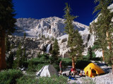 Campers on the Whitney Portal Trail, in the Sierra Nevada Mountains, Inyo National Forest, USA Photographic Print by Brent Winebrenner