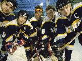 Portrait of an Ice Hockey Team Photographic Print