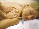 Young Woman Getting a Shoulder Massage Photographic Print