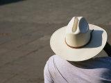 Mexican Man Wearing a Cowboy Hat Photographie par Gina Martin