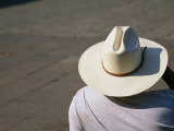 Mexican Man Wearing a Cowboy Hat Photographic Print by Gina Martin