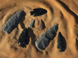 Indian Arrowheads in the Sand Photographic Print by Ira Block