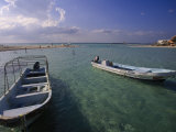 Boats, Playa Norte, Isla Mujeres, Mexico Photographic Print by Walter Bibikow