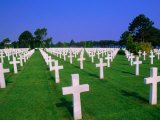 Rows of White Crosses at American Military Cemetery, Colleville-Sur-Mer, France Photographic Print by John Elk III