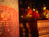 Buddha Statues Inside Wat Phra That in Northern Thailand, Thailand Photographic Print by John Hay