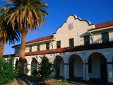 Kelso Railroad Depot and Visitors Centre in Mojave National Preserve, California, USA Photographic Print by Stephen Saks