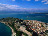 Aerial View of Nafplio (Nauplion) from Palamidi Fort, Nafplio, Greece Photographic Print by John Elk III