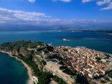 Aerial View of Nafplio (Nauplion) from Palamidi Fort, Nafplio, Greece Photographic Print by John Elk III