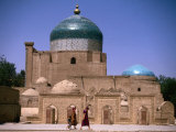 Exterior of Madrassa, Khiva, Khorezm, Uzbekistan Photographic Print by Jane Sweeney