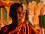 Portrait of Novice Monk, Phnom Penh, Cambodia Photographic Print by John Banagan