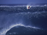 Surfer in Blue Water Photographic Print