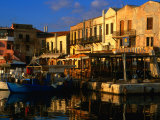 Venetian Buildings Make Up Rethymno Harbour, Rethymno, Crete, Greece Photographic Print by Glenn Beanland