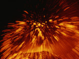 Molten Lava Spews Forth from Mount Etna Photographic Print by Peter Carsten