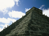 Tourists Climb the Ancient Pyramid of El Castillo at Chichen Itza Photographic Print by Michael Melford