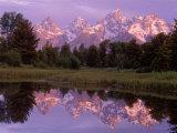 Mountains and Lake, Grand Teton National Park, WY Fotografisk trykk av Russell Burden