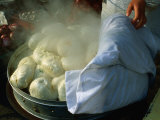 Freshly Cooked, Hot Dumplings for Sale Near Dazhalan, Beijing, China Photographic Print by Jonathan Smith