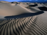 Ripples in Sand at Mesquite Sand Dunes, Death Valley National Park, USA Photographic Print by Carol Polich