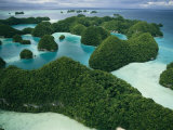 Aerial View of Islands in the Republic of Palau Photographic Print by Tim Laman