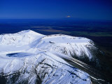Blue Lake on the Summit of Mt. Tongariro, Manawatu-Wanganui, New Zealand Photographic Print by David Wall