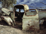 An Old Wrecked Truck in a Desert Environment Photographic Print by Jason Edwards