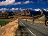 Motorcyle Touring Through the Countryside Around Maniototo, Otago, New Zealand Photographic Print by David Wall