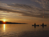 Canoeing at Dawn on Minnesotas Lake Superior Photographic Print by Annie Griffiths Belt