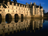 Chateau De Chenonceau along Cher River, Tours, France Photographic Print by John Elk III