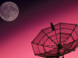 Satellite, Antenna, and Moon Photographic Print by David Carriere