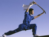 Martial Arts Weapons Demonstration Photographic Print