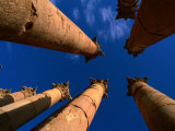 Columns at Temple of Artemis, Jerash, Jordan Photographic Print by Anders Blomqvist