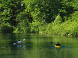 Kayakers Paddle in the Headwaters of the Susquehanna River Photographic Print by Raymond Gehman
