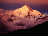 Sunset on Mt. Trisul in Uttarakhand, Uttar Pradesh, India Photographic Print by Richard I'Anson