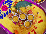 Rice Presented for Pre-Wedding Hindu Ritual, Kolkata, India Photographic Print by Richard I'Anson