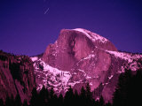 Half Dome with Pink Glow in Moonlight, Yosemite National Park, USA Photographic Print by John Elk III