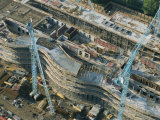 An Aerial View of a Construction Site in Bonn, Germany Photographic Print by Peter Carsten
