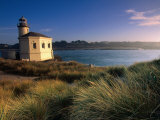 Coquille River Lighthouse, Bullards Beach State Park, USA Photographic Print by John Elk III
