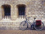 Holland, Goude, Bicycle Parked Beside Church Photographic Print by Jennifer Broadus