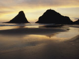 An Oregon Beach at Sunset Photographic Print by Charles Kogod