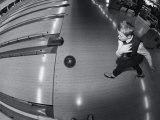High Angle View of a Boy Bowling Photographic Print