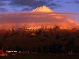 Low Cloud on Mt. Taranaki, or Egmont, Taranaki, New Zealand Photographic Print by David Wall