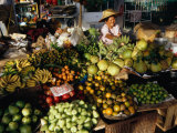 Fruit and Vegetable Market, Ban Don, Thailand Fotodruck von Richard Nebesky