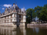 Chateau d'Azay-Le-Rideau on an Island in the Indre River, Azay-Le-Rideau, France Photographic Print by Diana Mayfield