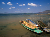 Boats on Edge of Lake, Thailand Photographic Print by John Hay