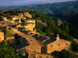 Mountain Top Village of Menerbes, Luberon, France Photographic Print by John Elk III