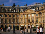 Pedestrians in Place Vendome, Paris, France Photographic Print by Jonathan Smith